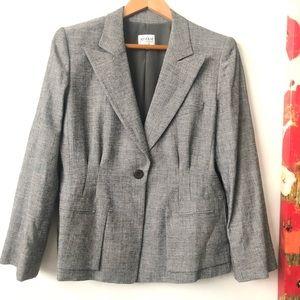 Armani Collezioni one button blazer size 12 grey